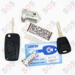 Комплект за Fiat - контактен ключ, ключалка и ключове