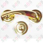 Дръжки с розетки за врати - злато