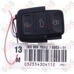 Оригинален ключ за VW 1K0959753G